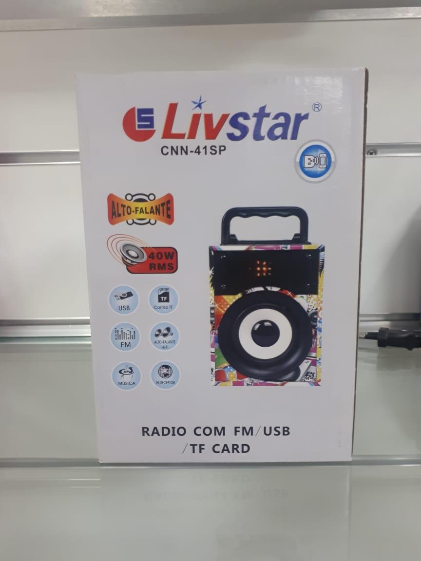 Caixa Amplificada Livstar Cnn41SP Blue.Usb/Sd/Fm 4WRms