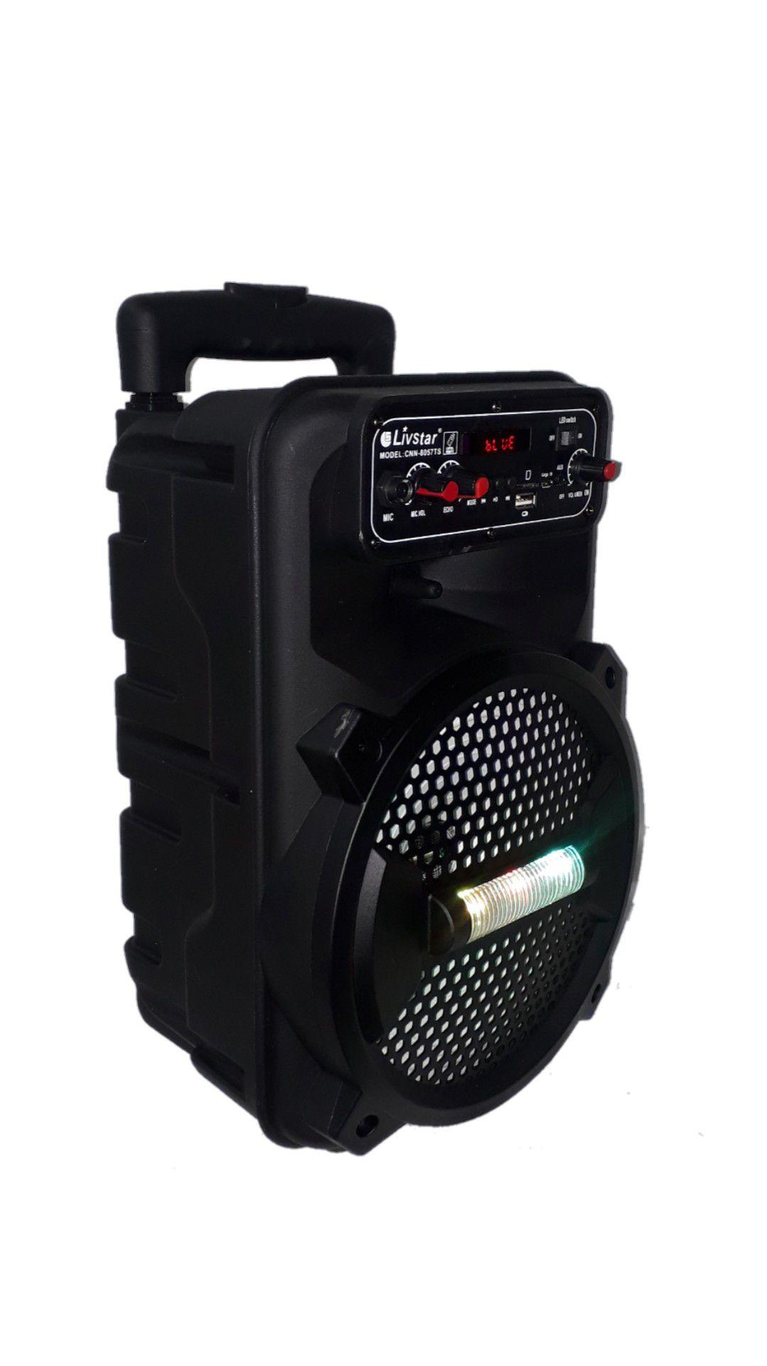 Caixa Amplificada Livstar CNN8012TS BLUE.USB/SD/FM/ 1MICROFONE C/ FIO