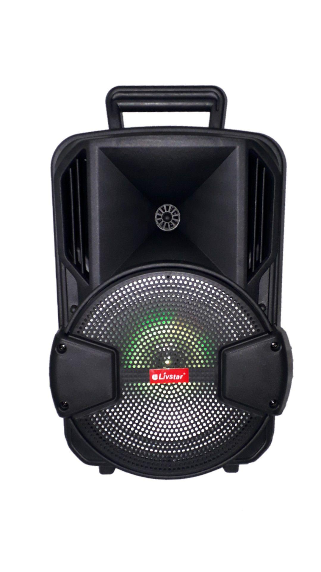 CAIXA AMPLIFICADA  LIVSTAR CNN8056TS FALANTE6, ECO, USB/SD/FM AUXILIAR P10 DISPLAY BATERIA RECARREGÁVEL