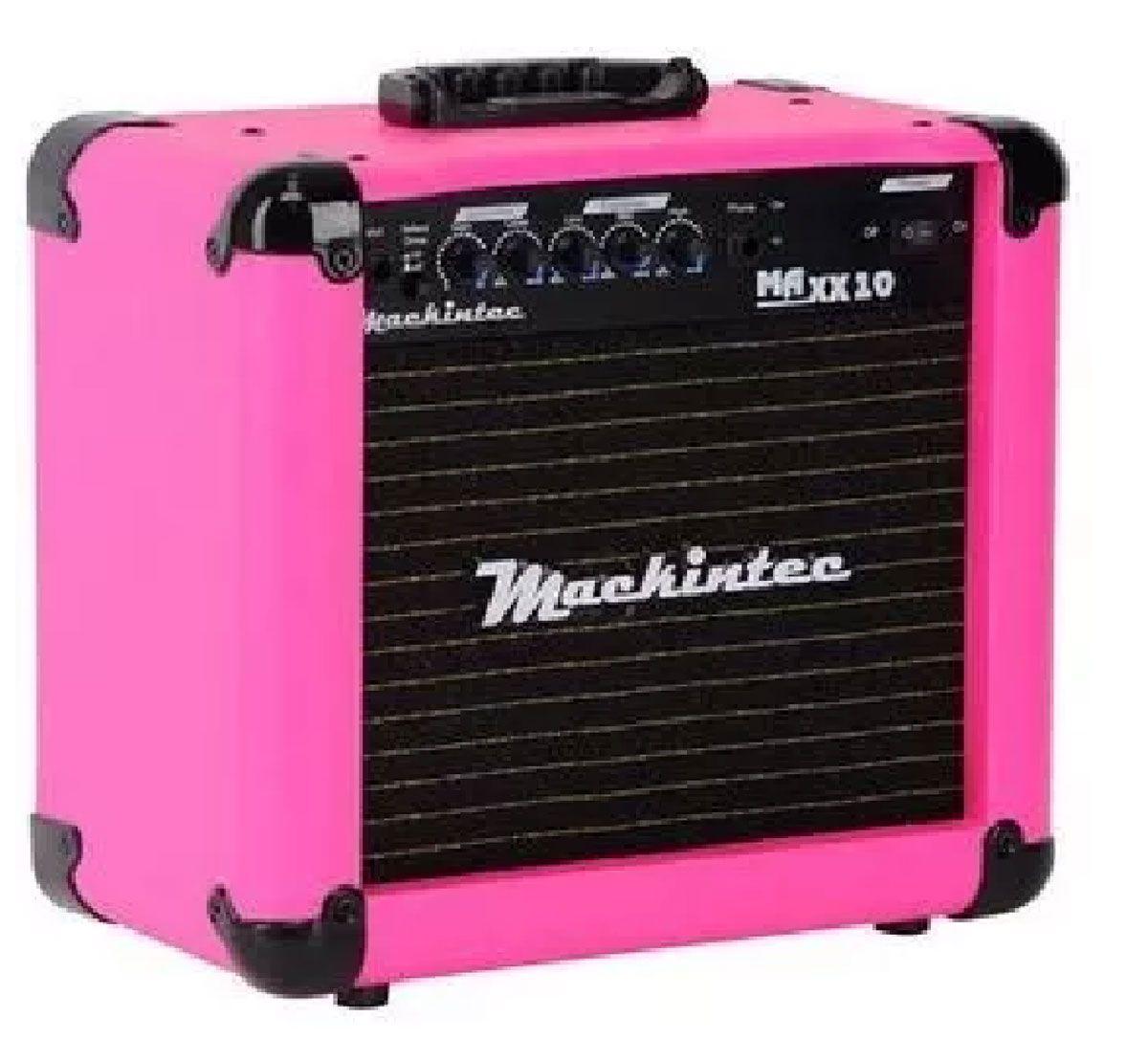 Caixa Amplificada Mackintec Maxx10 C/Distorção Guitarra 15wrms Rosa