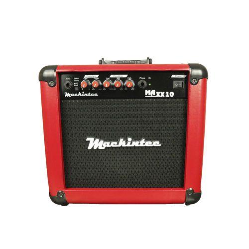 Caixa Amplificada Mackintec Maxx10 C/Dist.Guit.15wrms Vermelho