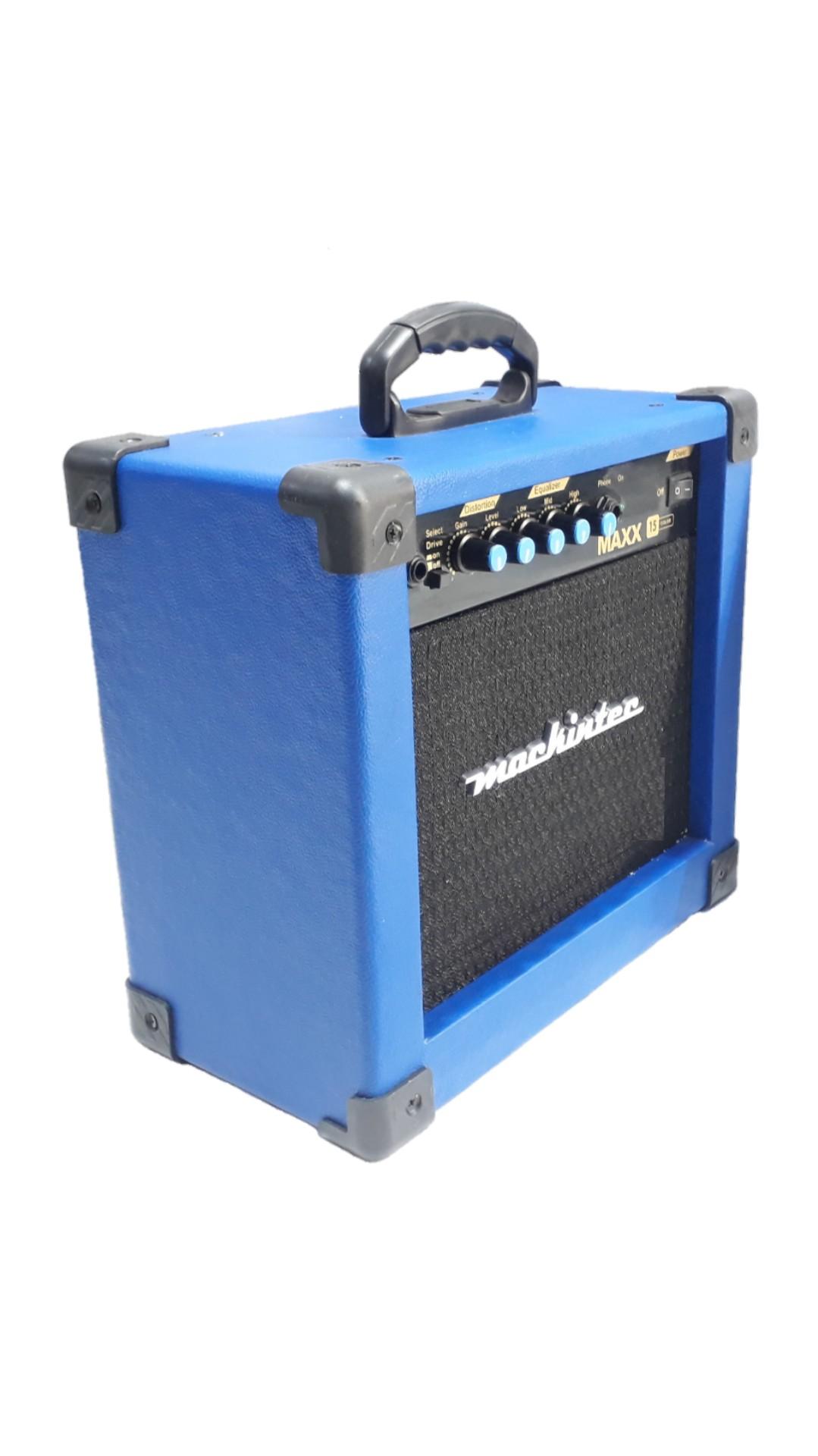 Caixa Amplificada Mackintec Maxx10 C/Distorção Guitarra 15wrms Azul