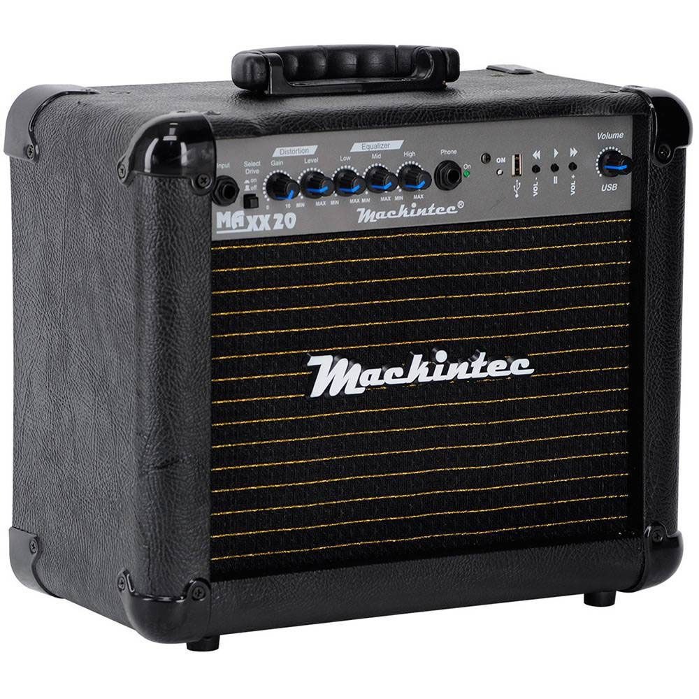 Caixa Amplificada Mackintec Maxx20 Usb C/Distoção, Guitarra15wrms Preta