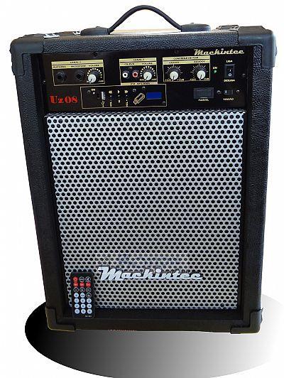 Caixa Amplificada Mackintec Uz08 Usb C/Controle Remoto Multiuso 25wrms
