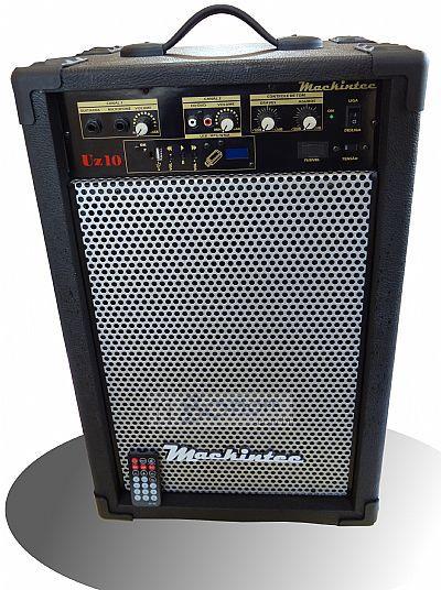 Caixa Amplificada Mackintec Uz10 Usb C/Controle Remoto Multiuso 40wrms