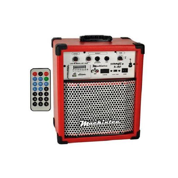 Caixa Amplificada Mackintec Yonng Uz X150 Usb/Sd/Fm C/Controle Remoto Multiuso 15w Vermelho