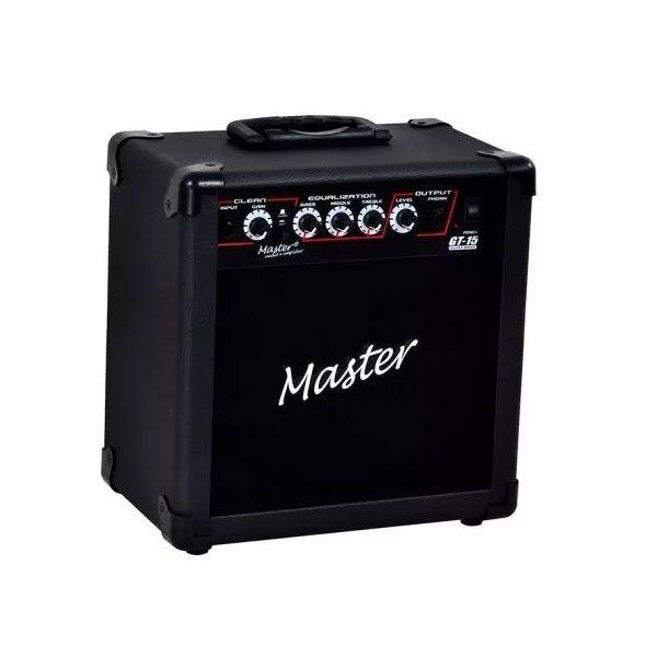Caixa Amplificada Master Gt15 Distorção Guitarra15wrms Preta