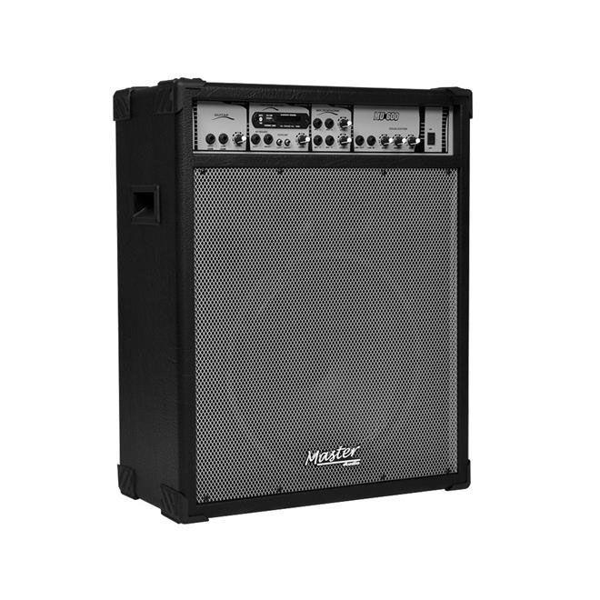 Caixa Amplificada Master Mu600bt Bluetooth Usb/Sd/Fm C/Controle Remoto Multiuso 125wrms