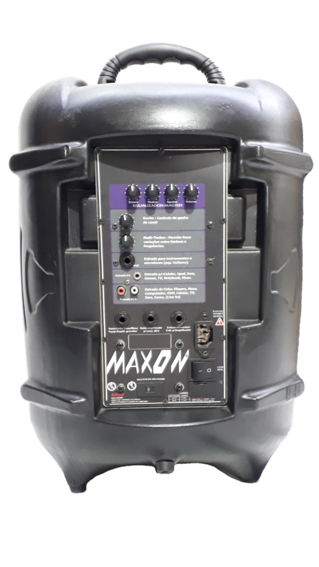 Caixa Amplificada Maxon Pe10 Turbinada Falante10.5 1canal Ativa Reversor Alimenta Passiva357wref