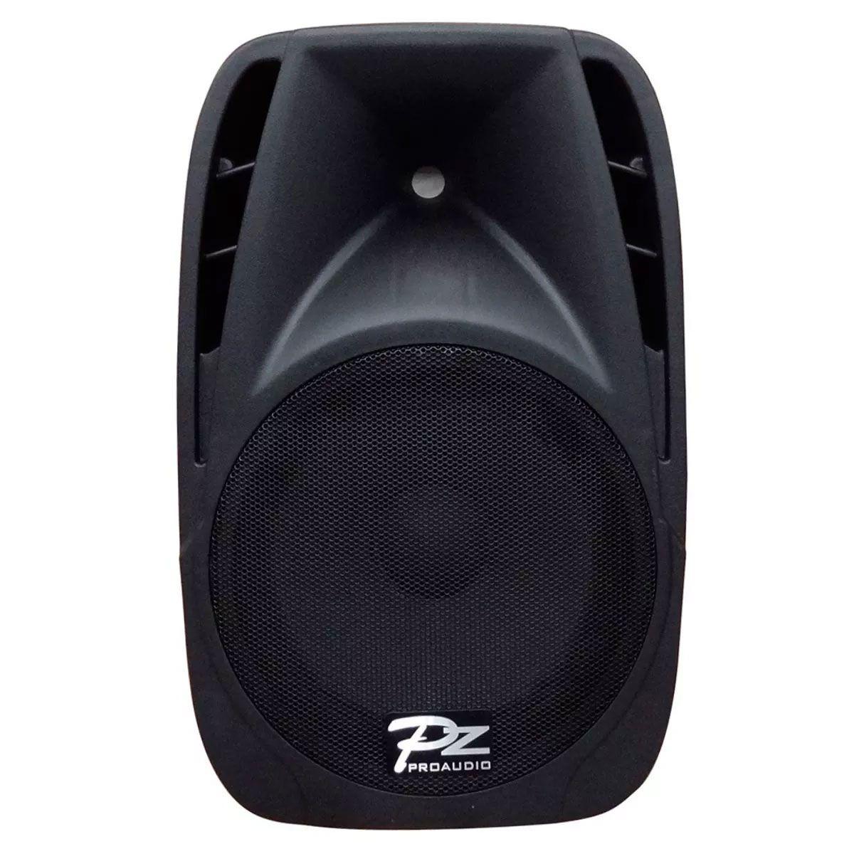 Caixa Amplificada Pz Proaudio Px12a Bluet Usb/Sd/Fm,Fal12 Disp.Dig.Cont.Rem.Ativa Alim.Pass. 150wrms