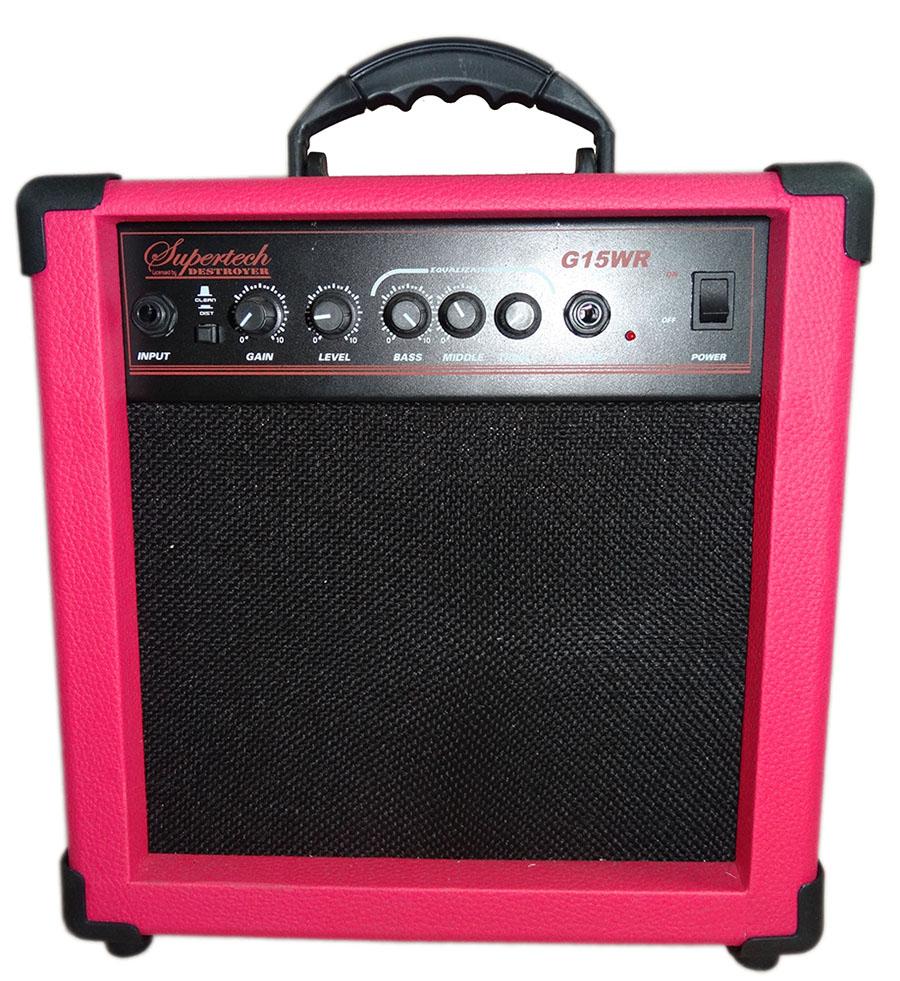 Caixa Amplificadora Supertech  G15WR Rosa