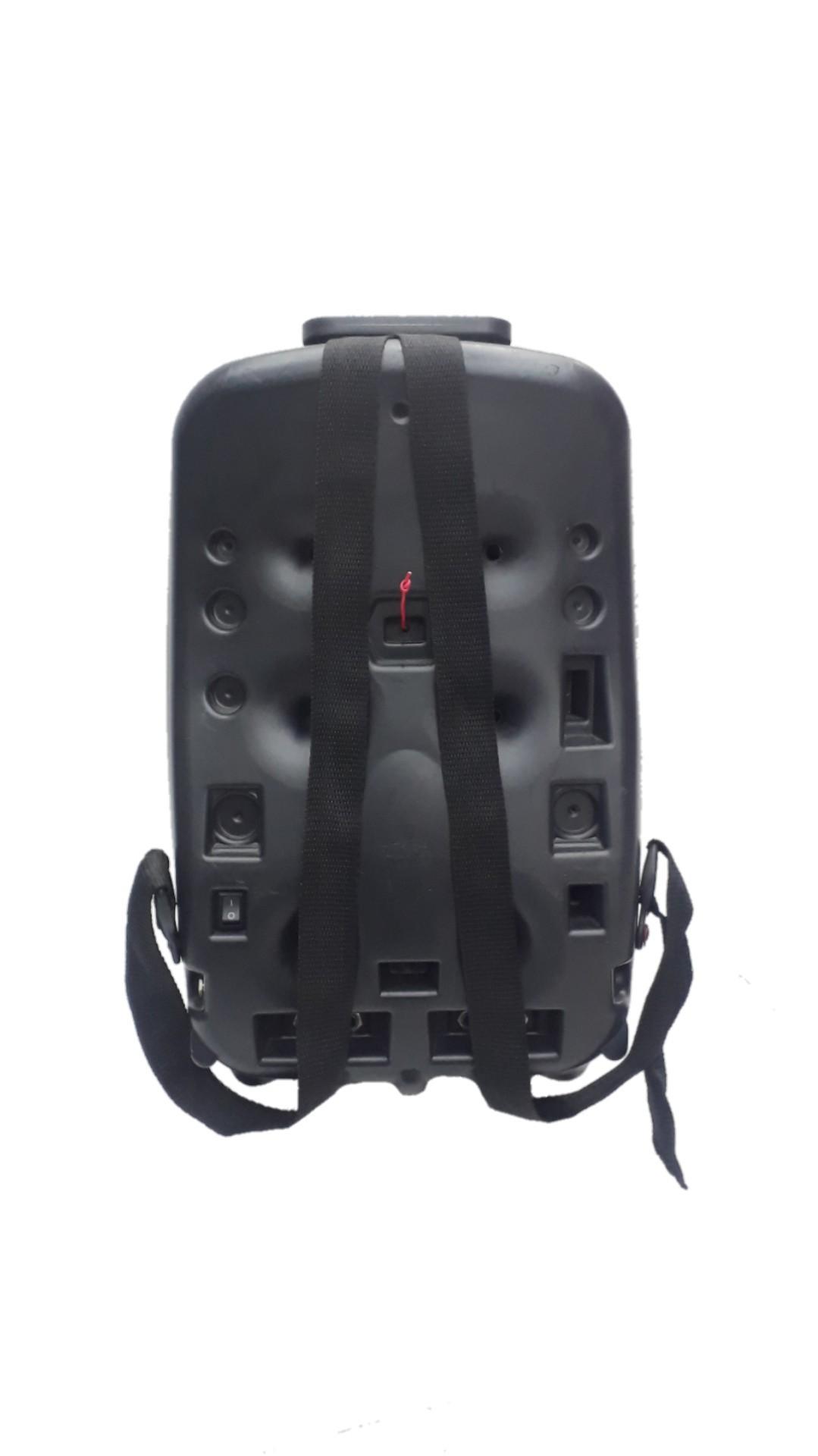 Caixa Amplificada Supertech Mochila R50 Falante6, Usb/Sd, Ativa C/Fonte 04128