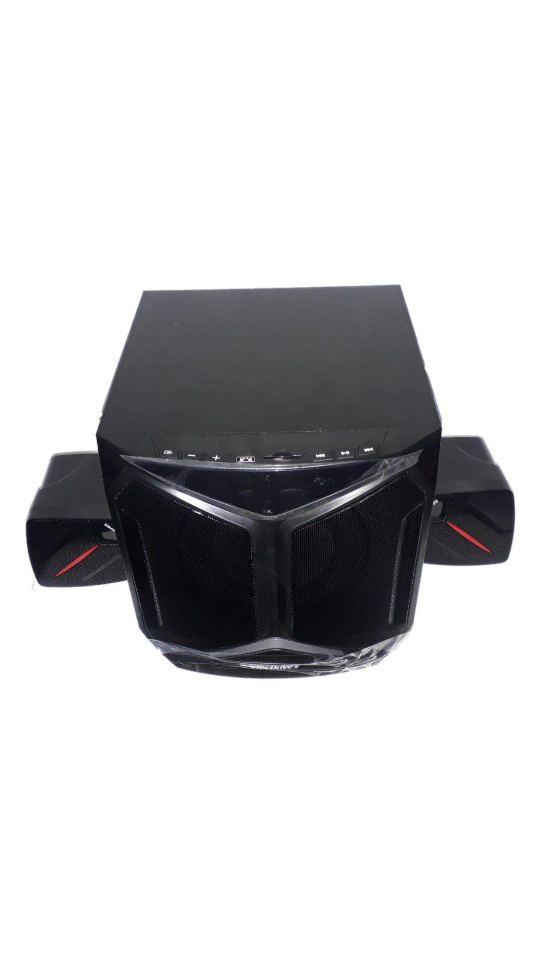 CAIXA AMPLIFICADA TECDRIVE TEC-SUB100 USB/BLUE/FM CONTROLE