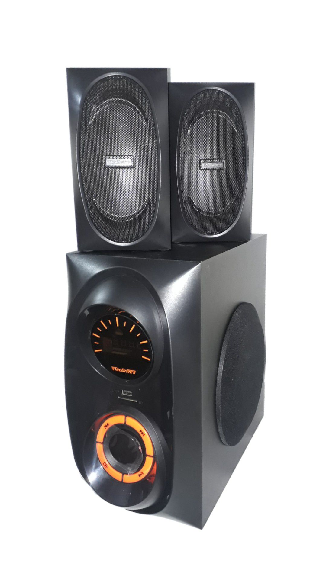 CAIXA AMPLIFICADA TECDRIVE TEC-SUB200 USB/BLUE/FM CONTROLE