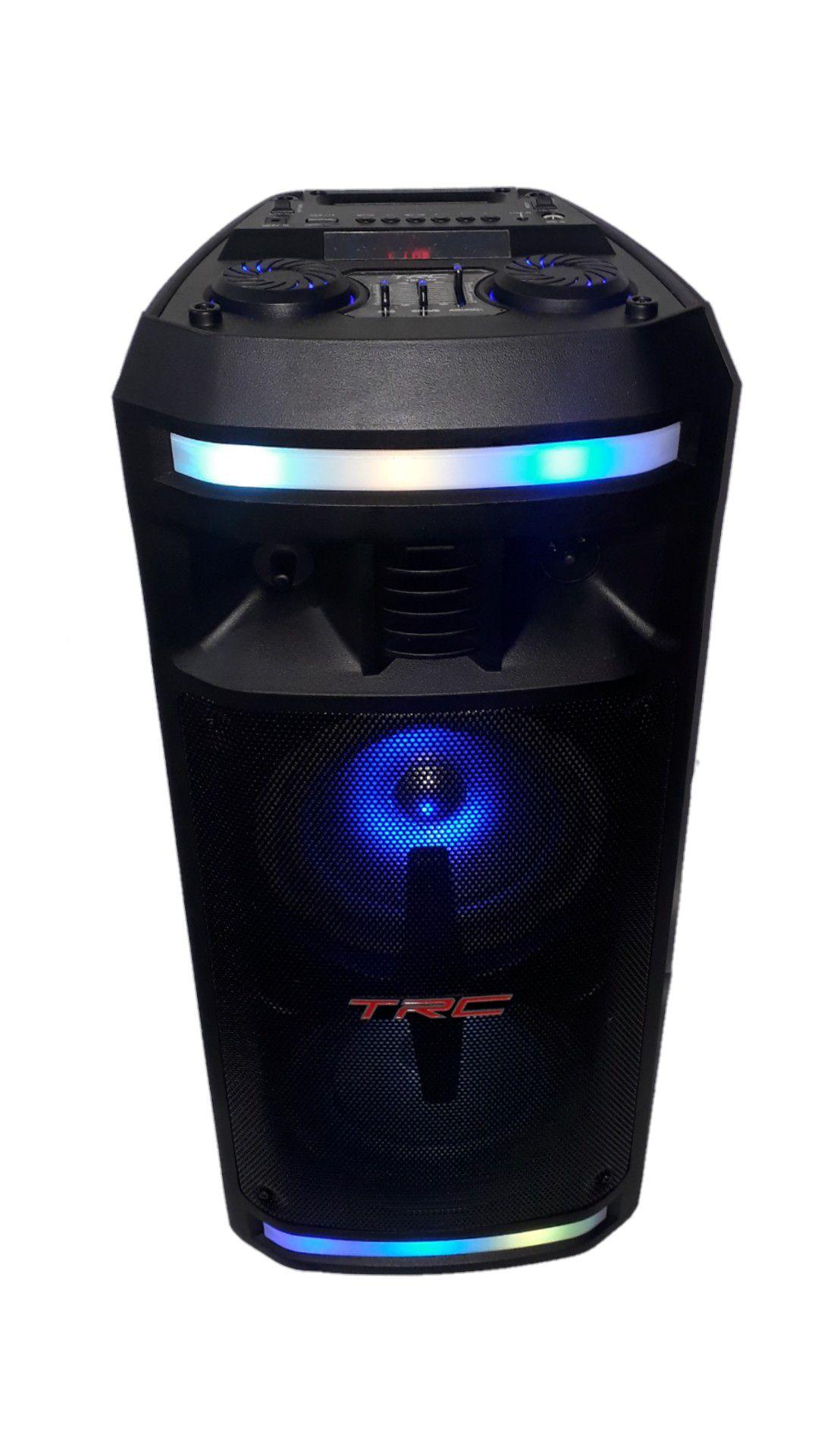 CAIXA AMPLIFICADA TRC 335 2FAL6 USB/SD/BLUE/FM 1MIC C/FIO CONTROL BAT 200W