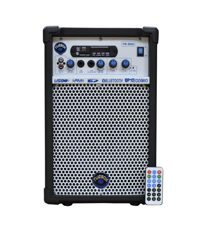 Caixa Amplificada Turbox Tb300 Bluetooth Usb/Cd/Fm,Fal8 C/Cont.Rem.Multiuso 50wrms