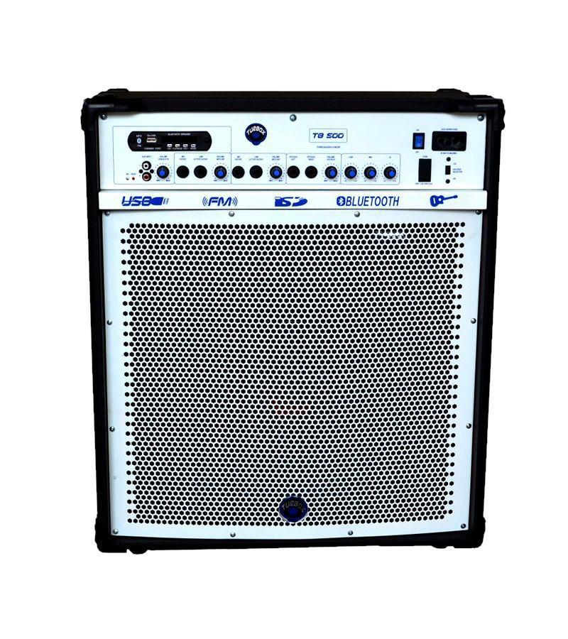 Caixa Amplificada Turbox Tb500 Bluetooth Usb/Cd/Fm,Fal12 C/Cont.Rem.Multiuso 100wrms