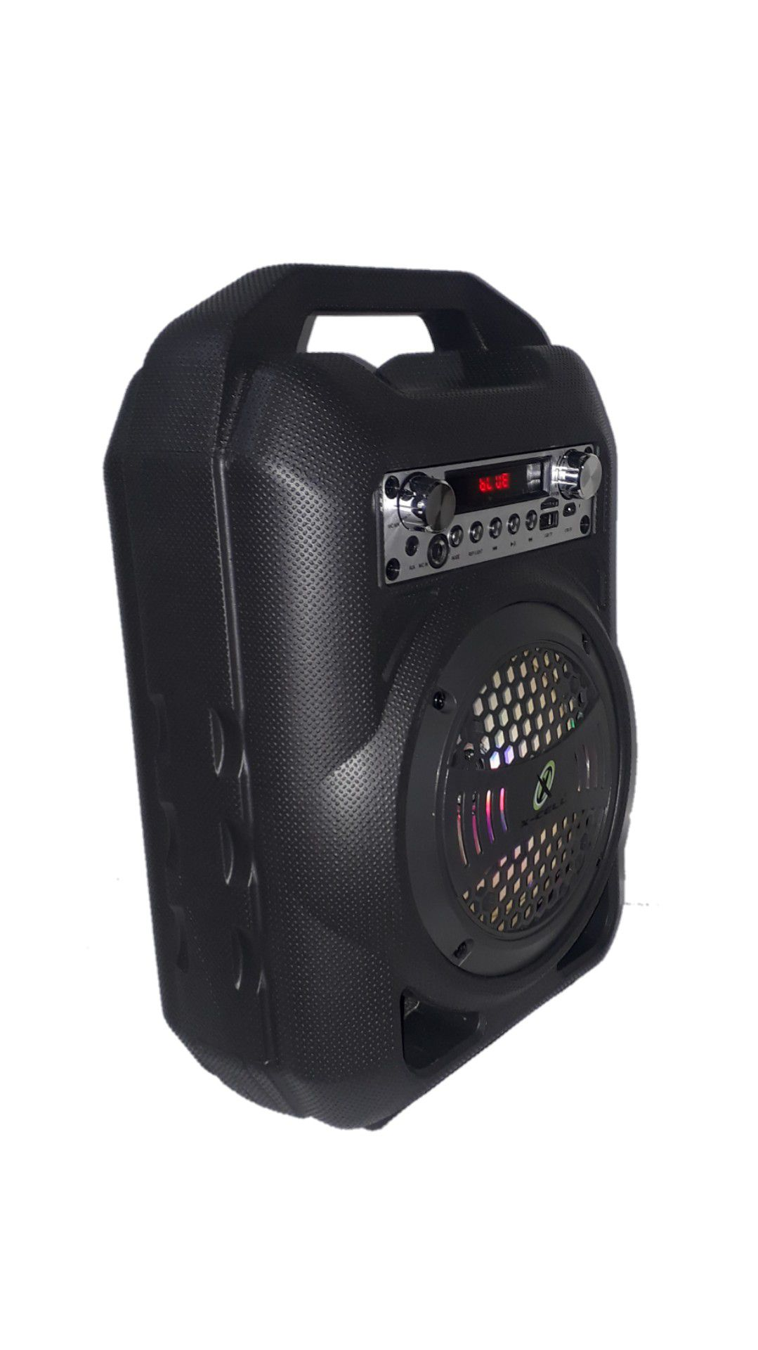 CAIXA AMPLIFICADA XCELL XCCP30 BLUETOOTH USB/SD/FM,1MICROFONE.1AUXILIAR P2,1CANALP10,1FALANTE,  PRETA