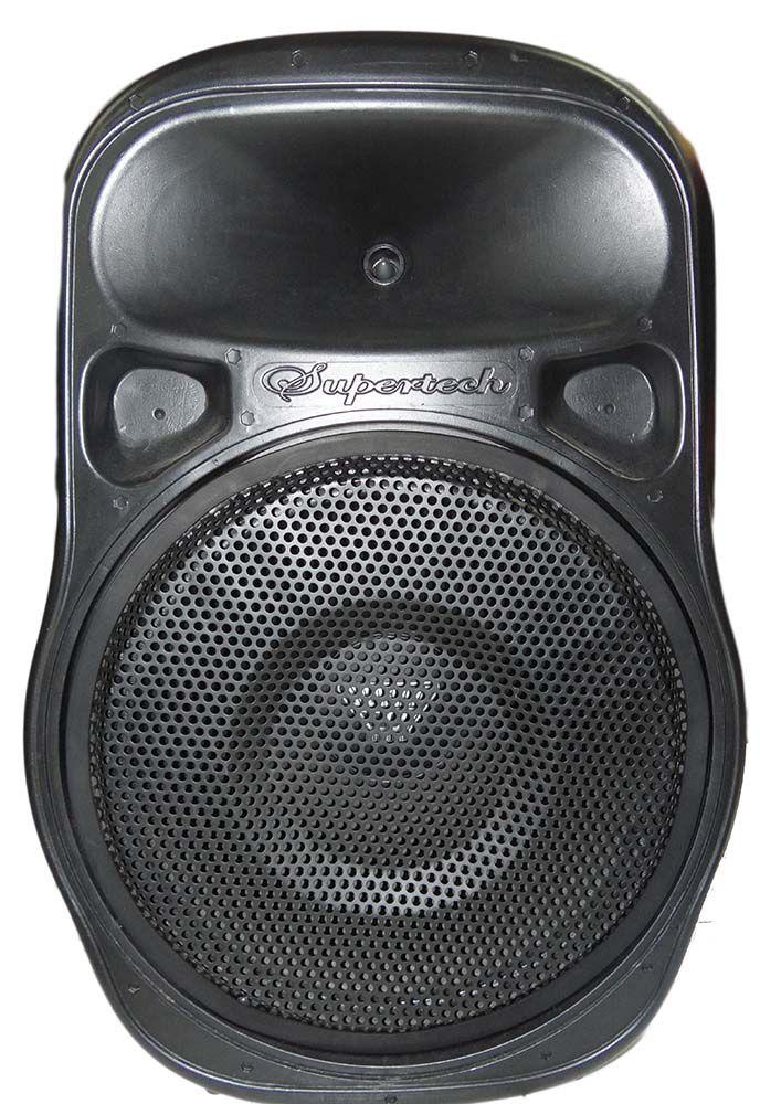 Caixa Ativa Supertech PE15 268WR Bluetooth/Usb/Sd/Fm Falante 15.2  2 Canais D10 Controle Remoto
