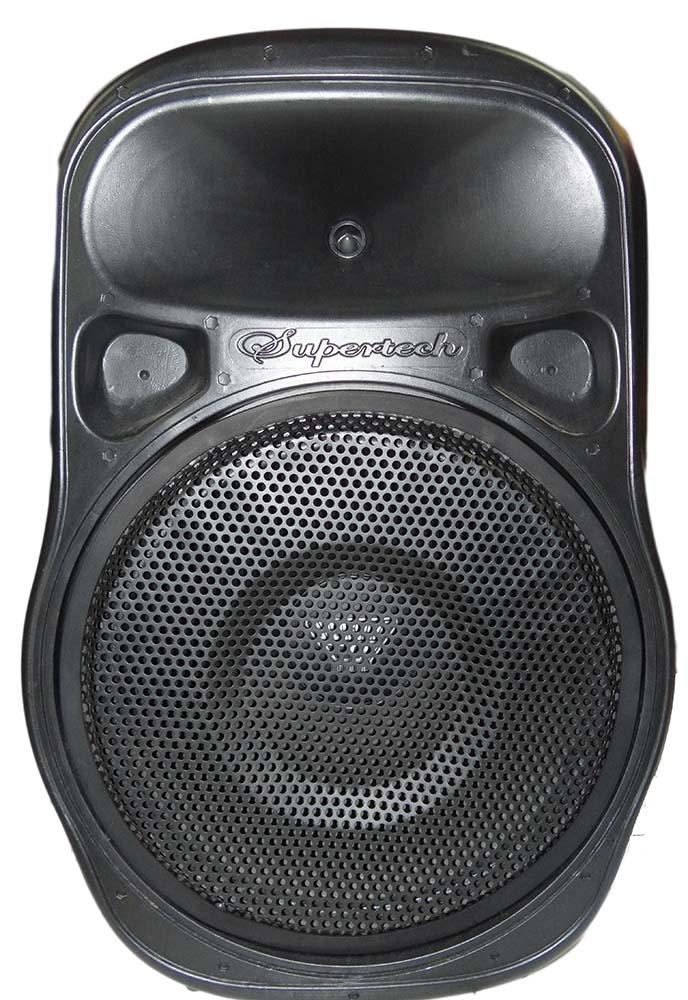 Caixa Ativa Supertech PE15 Turbinada 675WR 1 Canal Bluetooth/Usb/Sd/Fm Fal.15.0