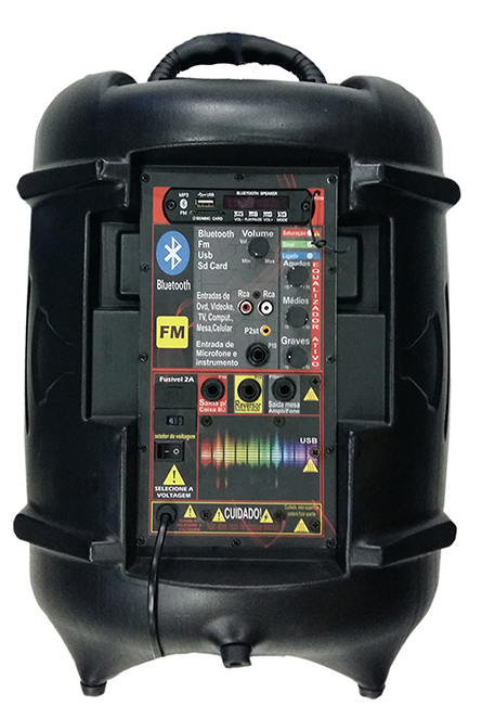 Caixa Ativa Supertech Turbinada  PE10 575WR 1 Canal Blutooth/Usb/Sd/Fm.