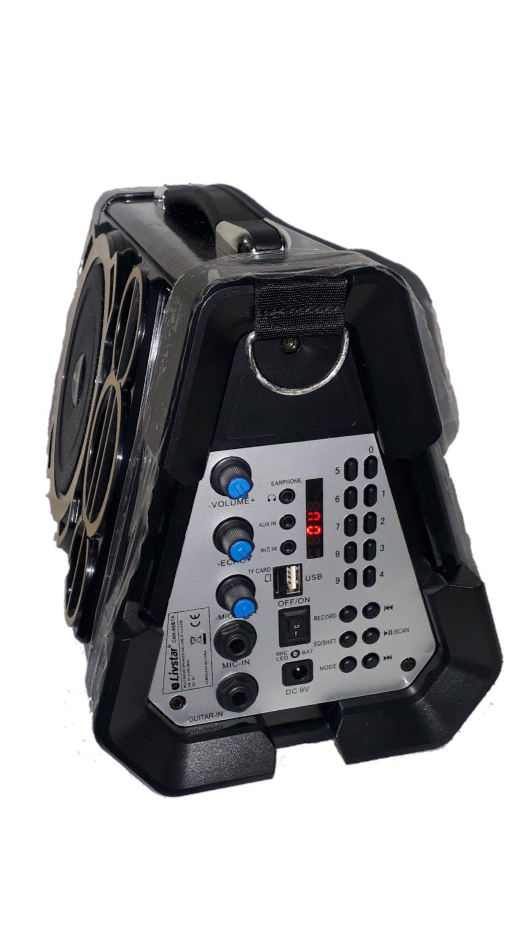 Caixa de Som Amplificada Livstar Rádio CNN-53 BTA Preto