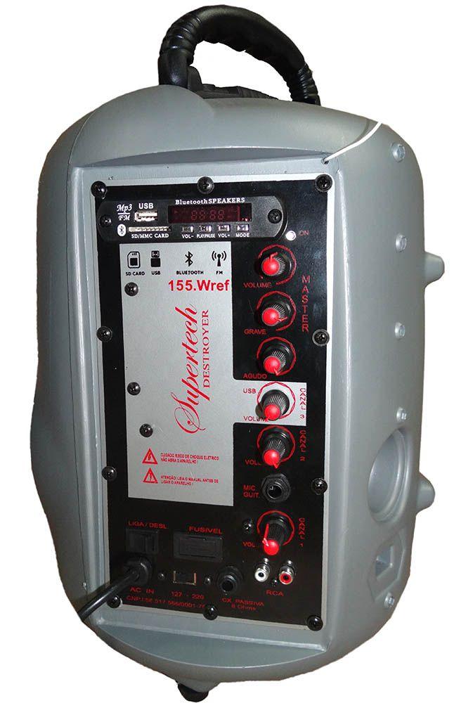 Caixa Maxon Turbinada   238WR 2 Canais Ativa + Bluetooth/Usb/Sd/Fm Fal. 6 Seco e 2 Twitters