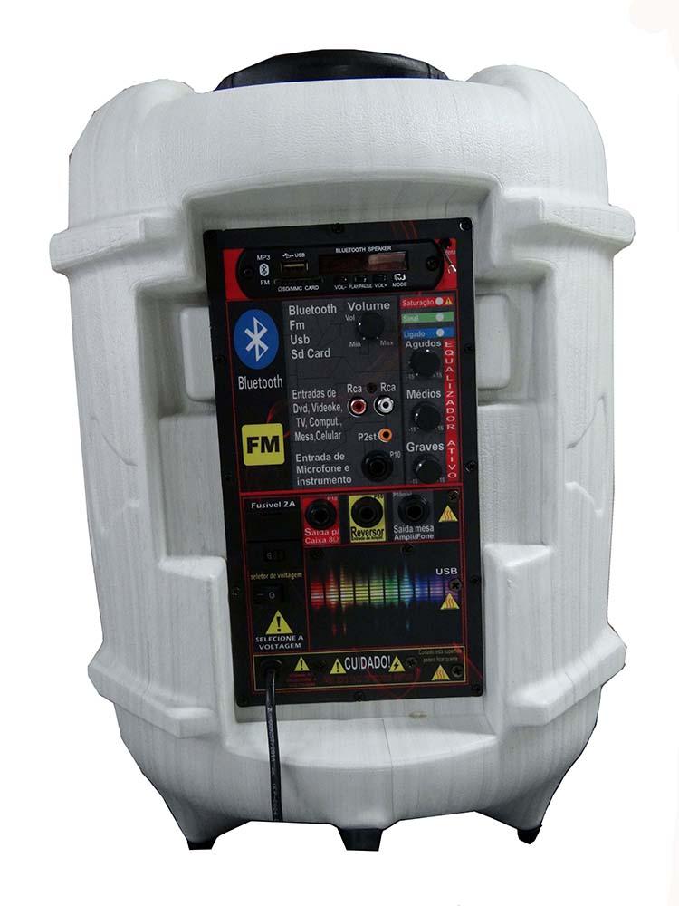 Caixa Supertech Turbinada PE10 358WR Ativa Blut/Usb/Sd/Fm