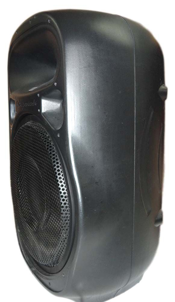 Caixa Supertech Turbinada PE15 Ativa 433WR 3 Canais Bluetooth.Usb.Sd.Fm. Com Efeito