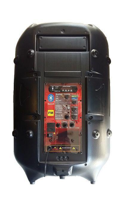 Caixa Supertech Turbinada PE15 NW Ativa 1 Canal Blut/Usb/Sd/Fm 288WREF Com Efeito