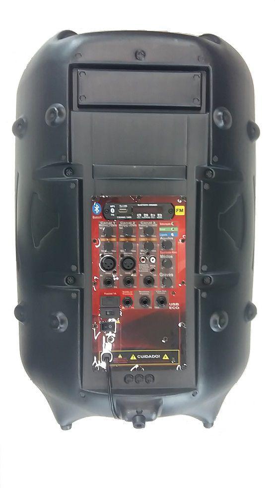 Caixa Supertech Turbinada PE15 NW Ativa Blut/Usb/Sd/Fm 290WREF Com Efeito