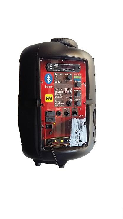 Caixa Supertech Turbinada PE8 NW 1 Canal Ativa Blut/Usb/Sd/Fm 260WREF