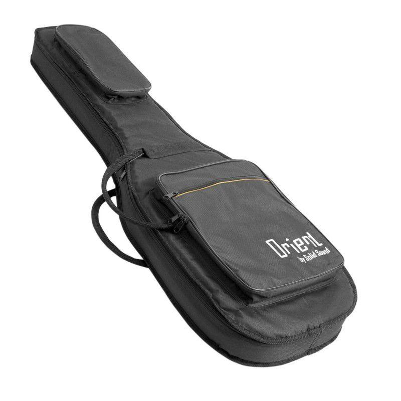 Capa Guitarra Solid Sound Orient Almofadada Formato Preta