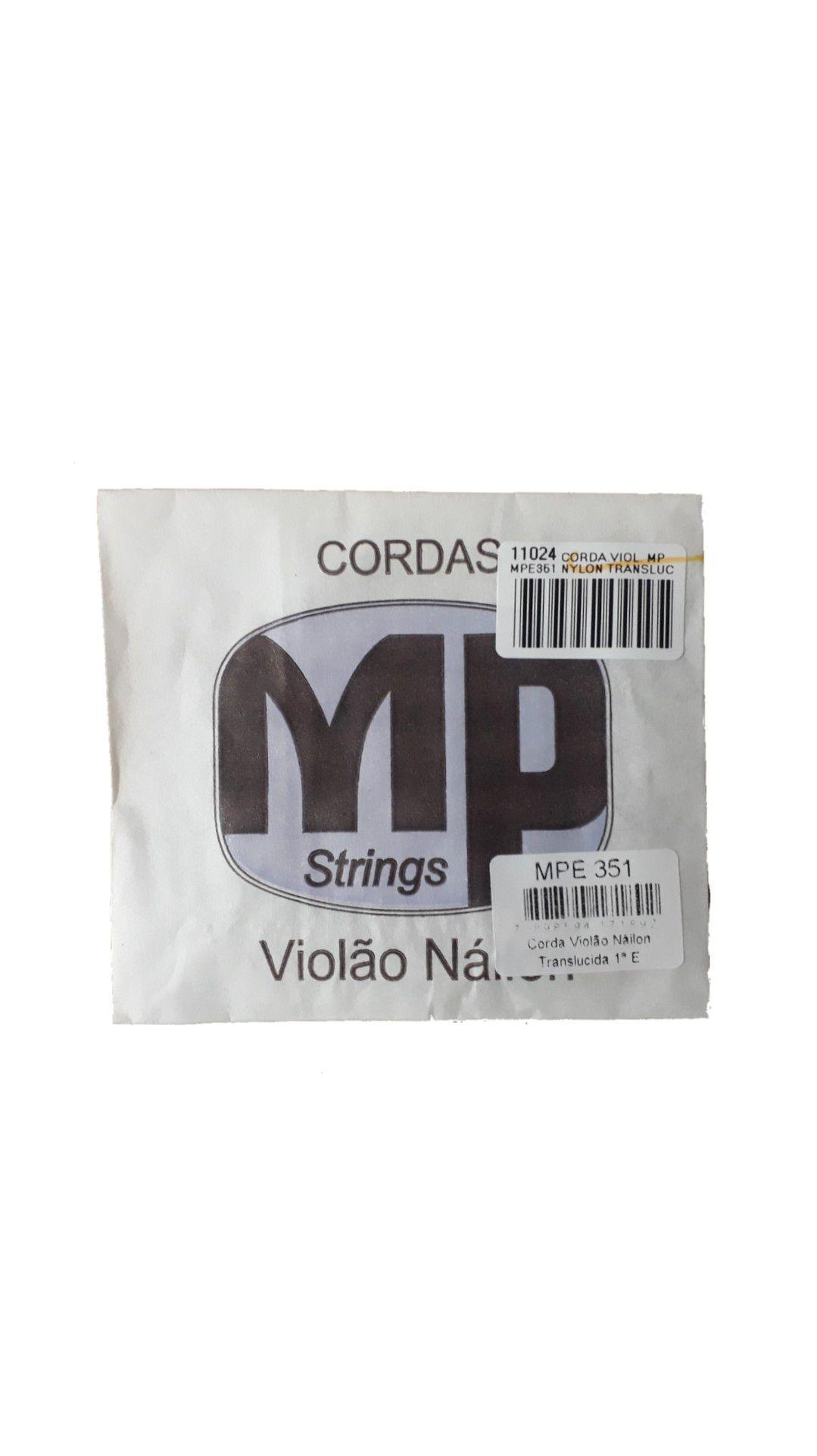 CORDA VIOL. MP MPE351 NYLON TRANSLUCIDA 1ª E/MI C/BOLINHA