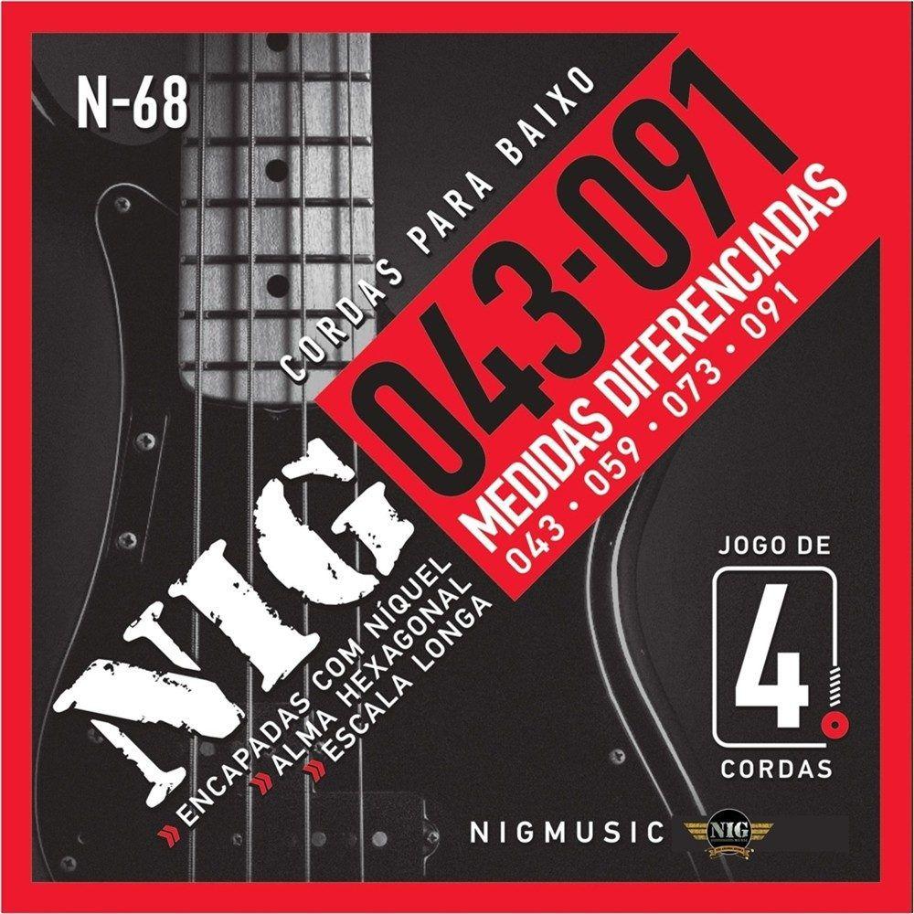 Encordoamento Baixo Nig N68 4c