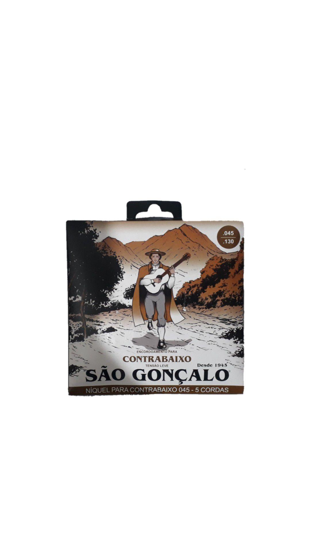ENCORDOAMENTO BAIXO SÃO GONÇALO 11029 5CORDAS NÍQUEL TENSÃO LEVE LIGHT 045/0130 T