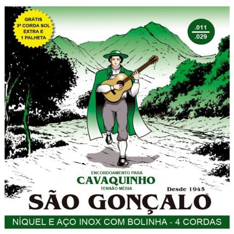Encordoamento Cavaco Sao Goncalo 131 Niquel E Aco Inox C/ Bolinha Tensao Media