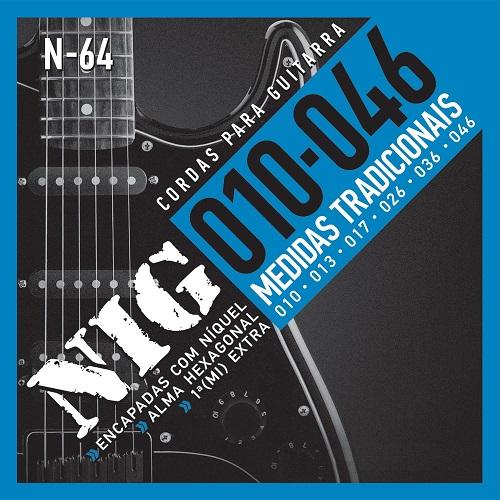 Encordoamento Para Guitarra Nig N64 010 Extra