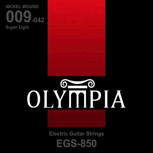 Encordoamento para Guitarra Olympia  EGS850 Nickel Wound Extra Light 09