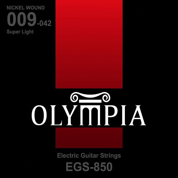Encordoamento para Guitarra Olympia  EGS850 Nickel Wound Extra Light 09