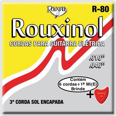 Encordoamento Para Guitarra Rouxinol R80 010