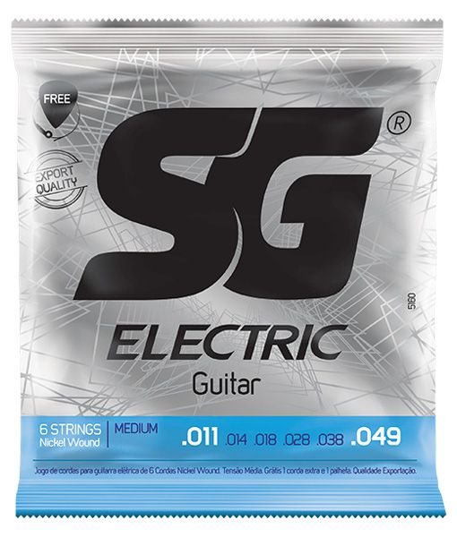 Encordoamento Para  Guitarra Sg 5160 Niquel Media 011