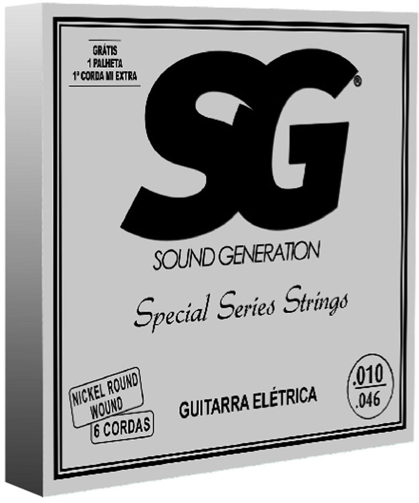 Encordoamento Para Guitarra Sg 7448 Niquel Special Series 010
