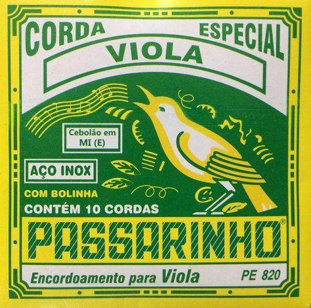 Encordoamento.Viola Passarinho Pe820 Cebolão Mi-E