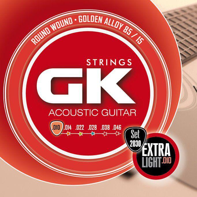 Encordoamento Para  Violão Gk 012030 Aco Golden Alloy 85/15 010