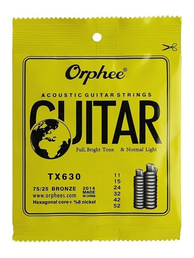 Encordoamento Violão Orphee Tx630 Aço 011
