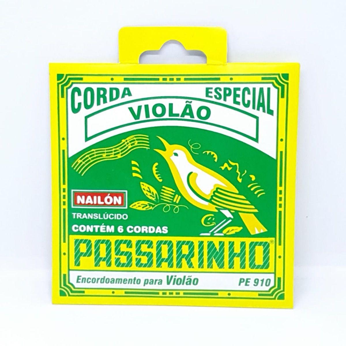 Encordoamento Violão Passarinho Pe910 Nylon