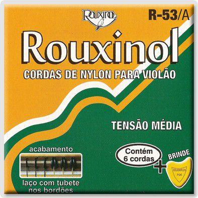 Encordoamento Para Violão Rouxinol R53a Nylon Amareladas