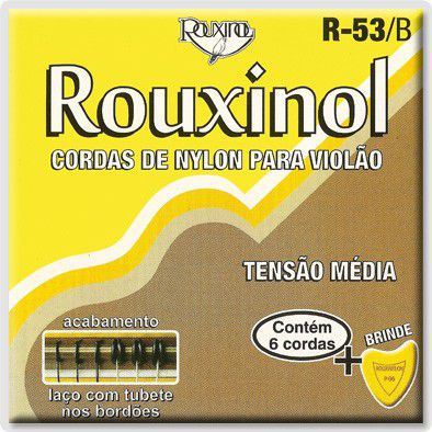 Encordoamento Para Violão Rouxinol R53b Nylon Prateadas