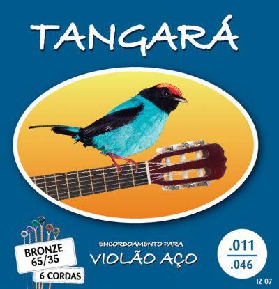 Encordoamento Para Violão Tangará 07 Aço Bronze 65/35 C/Bolinha 011